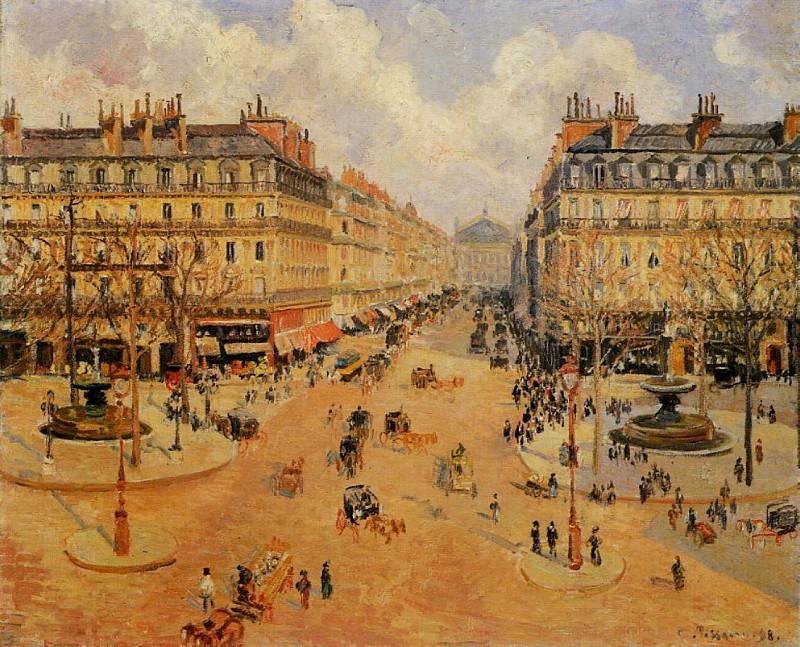 Avenue de lOpera - Morning Sunshine. (1898). Camille Pissarro