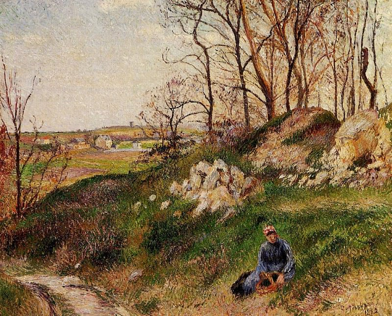 The Chou Quarries, Pontoise. (1882). Camille Pissarro