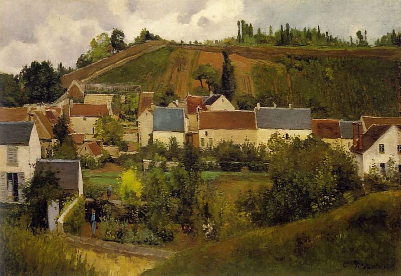 Вид селения Эрмитаж, холмы Жалле, Понтуаз, 1867. Камиль Писсарро