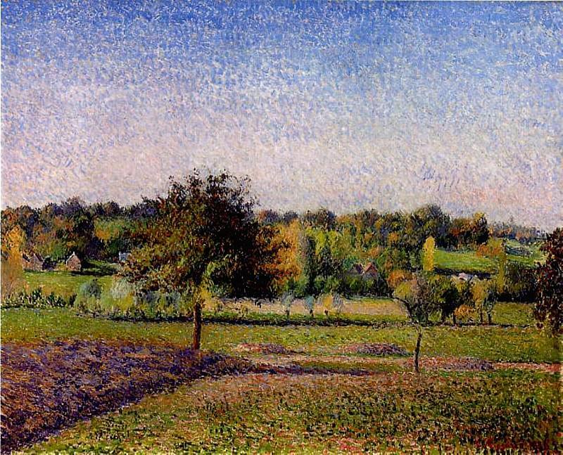 Meadows at Eragny. (1886). Camille Pissarro