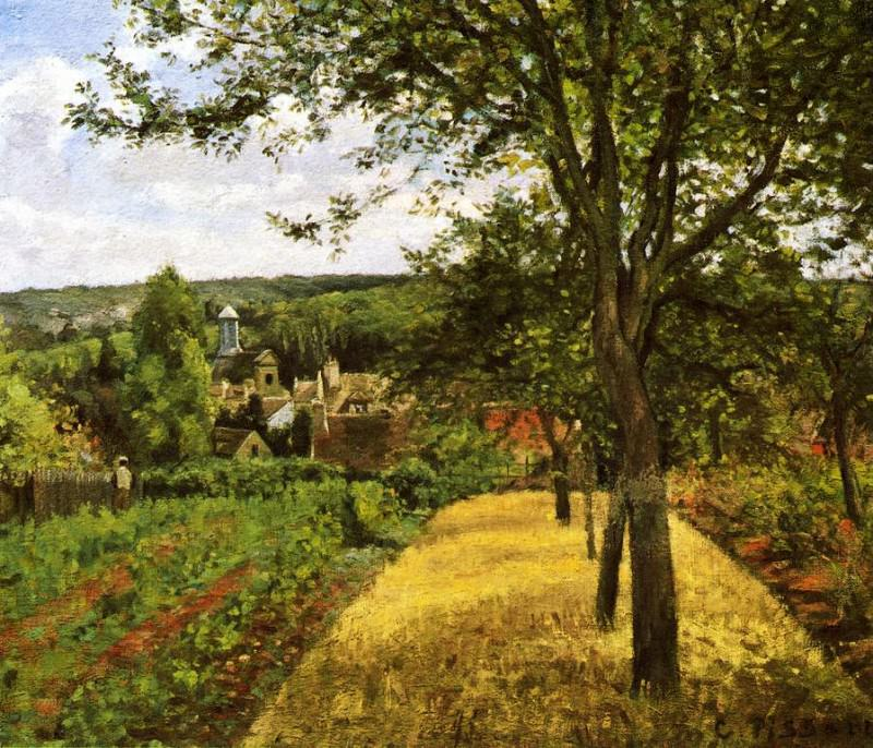 Orchards at Louveciennes,1872. Camille Pissarro