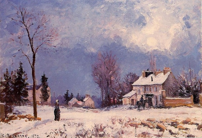 The Road from Versalles to Saint-Germain at Louveciennes. (1872). Camille Pissarro