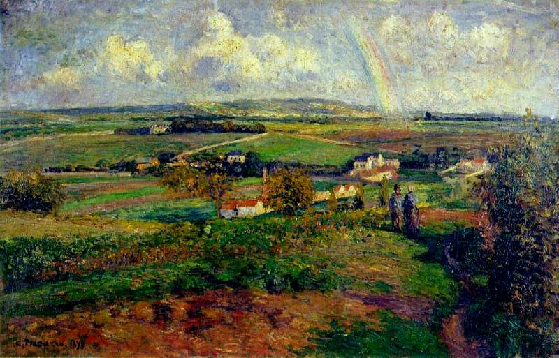 The Rainbow. (1877). Camille Pissarro