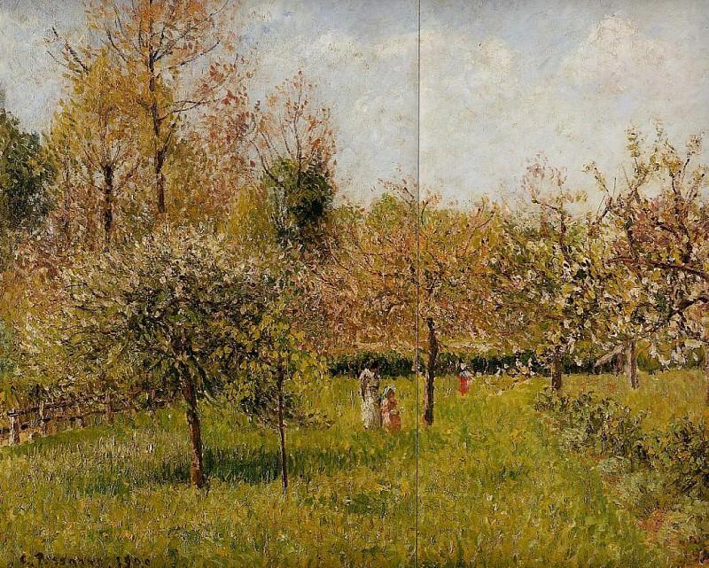 Spring at Eragny. (1900). Camille Pissarro