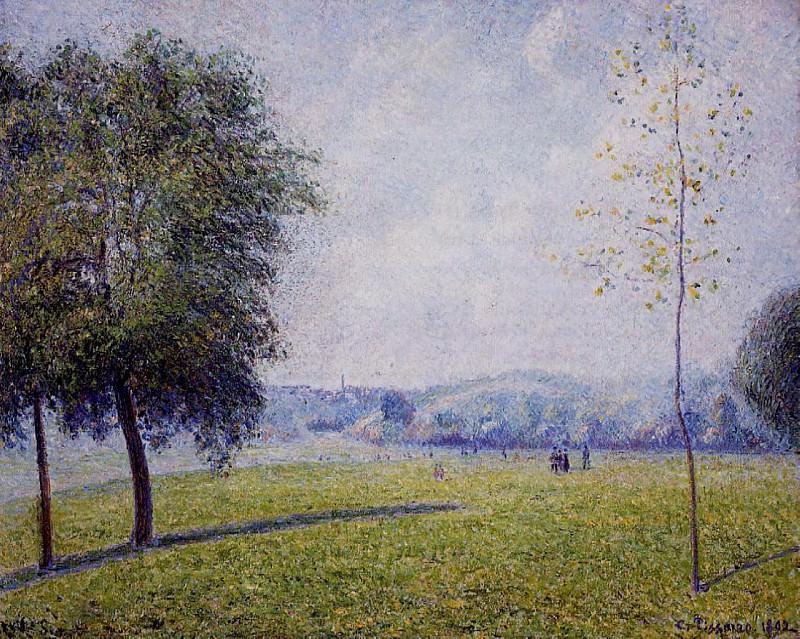 Primrose Hill, Regents Park. (1892). Camille Pissarro