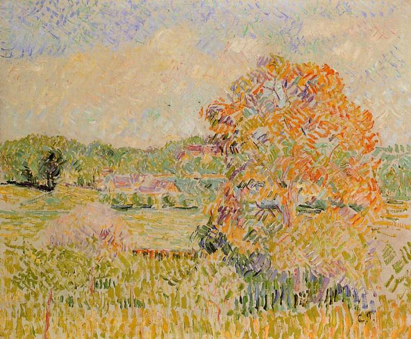 Springtime at Eragny (study). (1890). Camille Pissarro