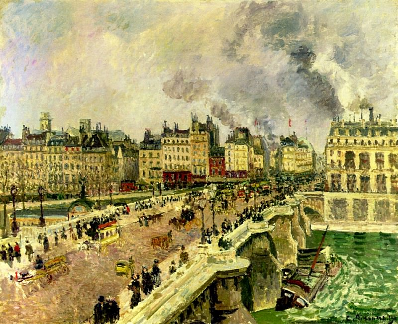 The Pont Neuf, Shipwreck of the Bonne Mere. (1901). Camille Pissarro