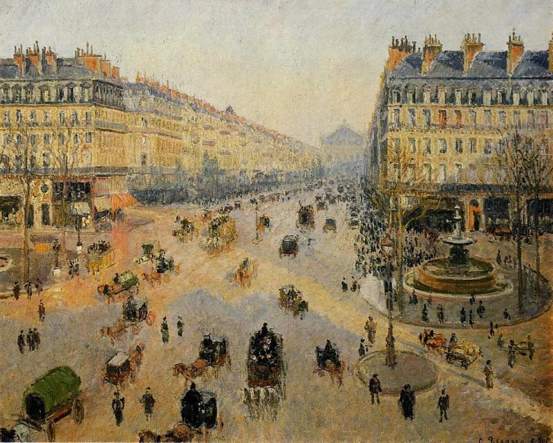 Авеню Оперы - Солнечное зимнее утро (1898). Камиль Писсарро