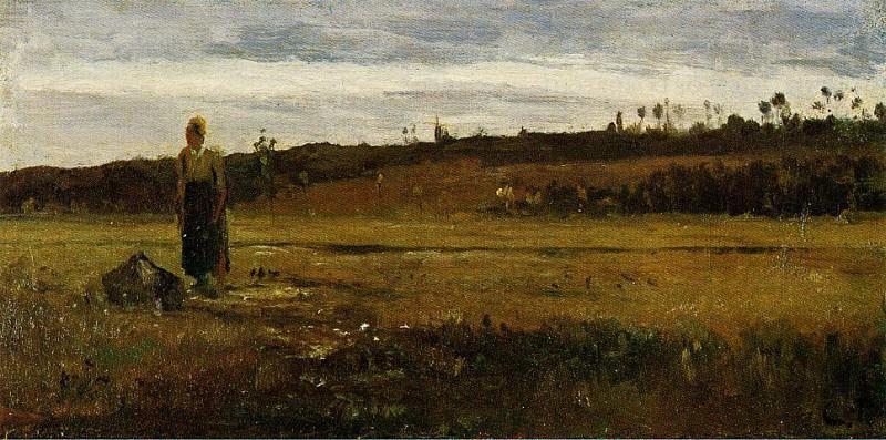 Пейзаж в Ле Варанн-Сент-Илере (1865). Камиль Писсарро