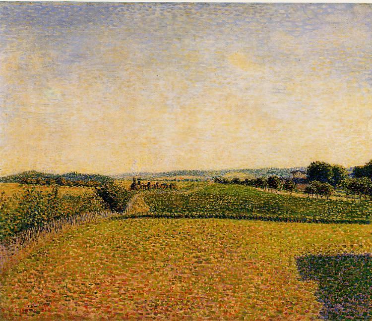Железная дорога в Дьеп (1886). Камиль Писсарро