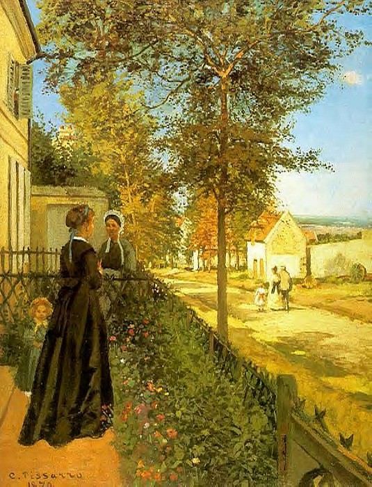 Louveciennes - the Road to Versailles. (1869). Camille Pissarro