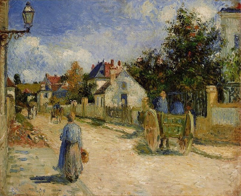 A Street in Pontoise. (1879). Camille Pissarro