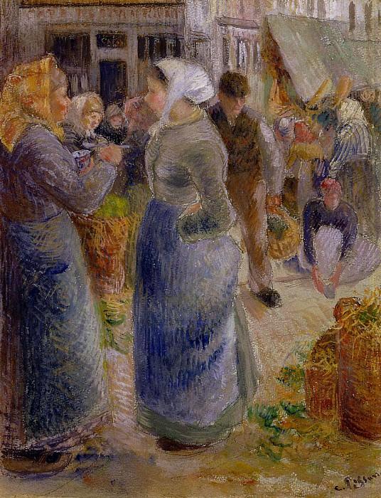 The Market. (1883). Camille Pissarro