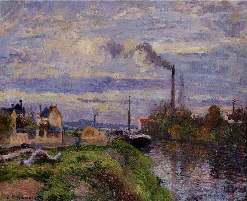Le Quai du Pothuis a Pontoise. (1876). Camille Pissarro
