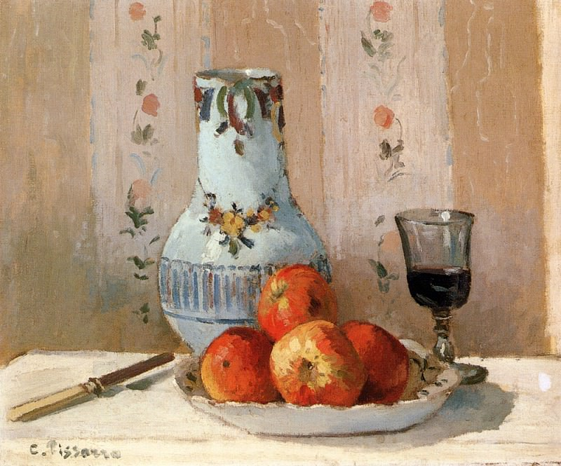 Still Life With Apples And Pitcher. Camille Pissarro