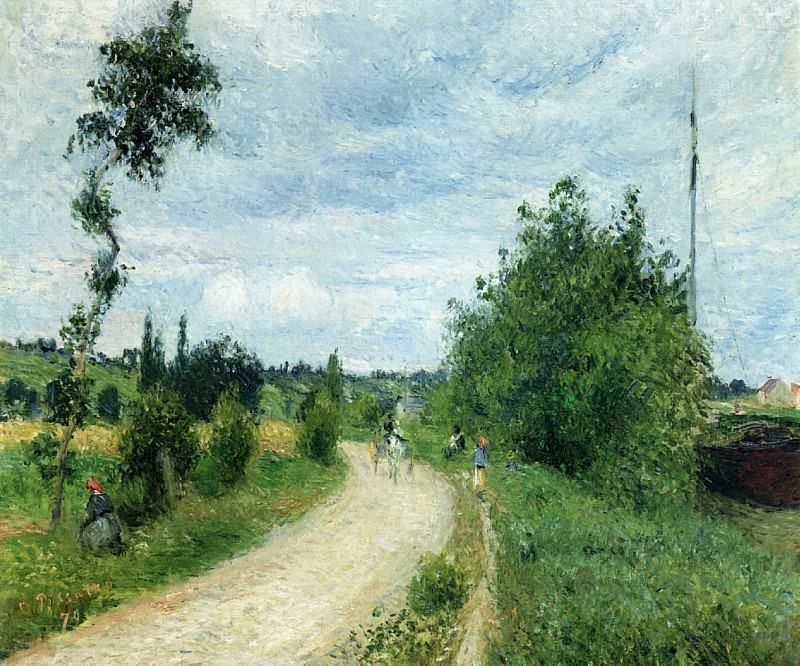 The Auvers Road, Pontoise. (1879). Camille Pissarro