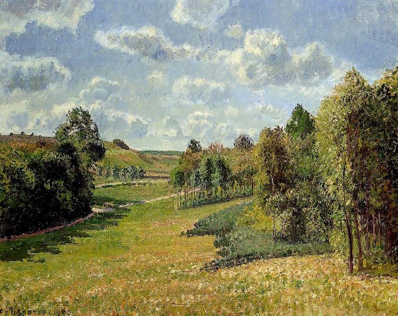 Berneval Meadows, Morning. (1900). Camille Pissarro