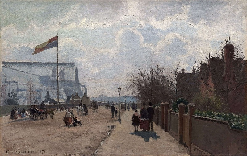 The Chrystal Palace, London. (1871). Camille Pissarro