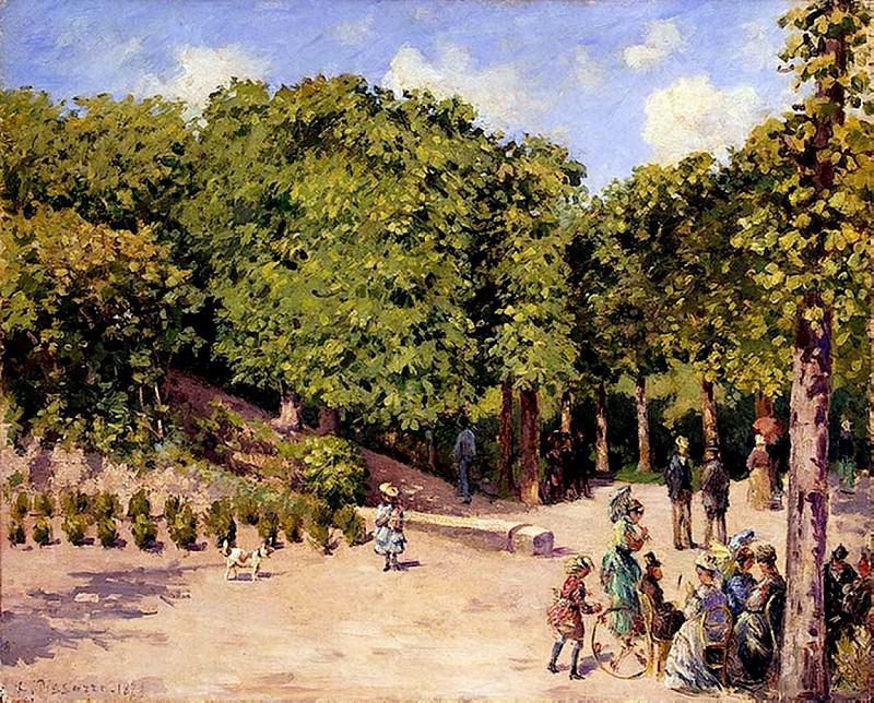 Town Garden in Pontoise. (1873). Camille Pissarro