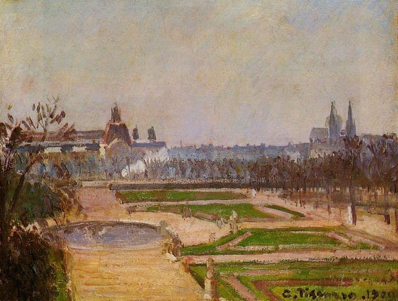 The Tuileries and the Louvre. (1900). Camille Pissarro