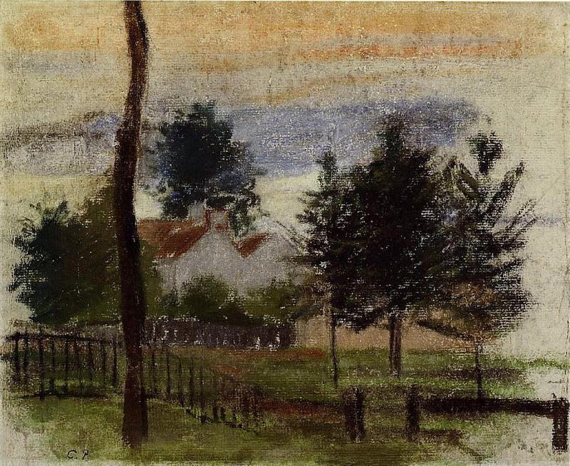 Пейзаж в Лувесьене. (1869). Камиль Писсарро
