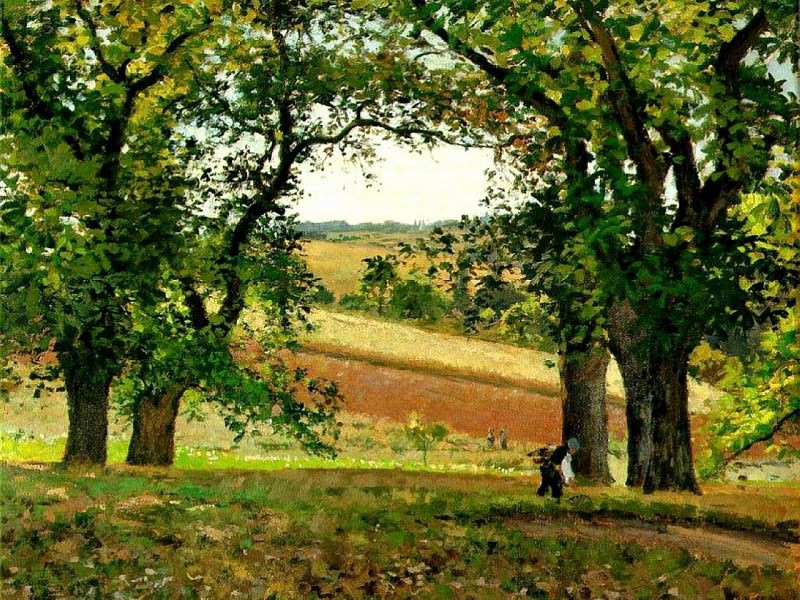 Chestnut Trees at Osny. (1873). Camille Pissarro