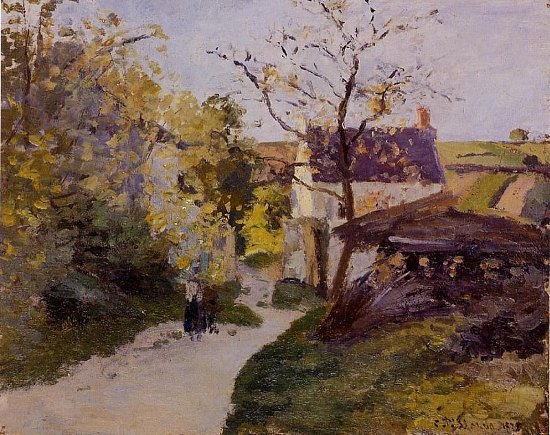 The Large Walnut Tree at lHermitage. (1875). Camille Pissarro