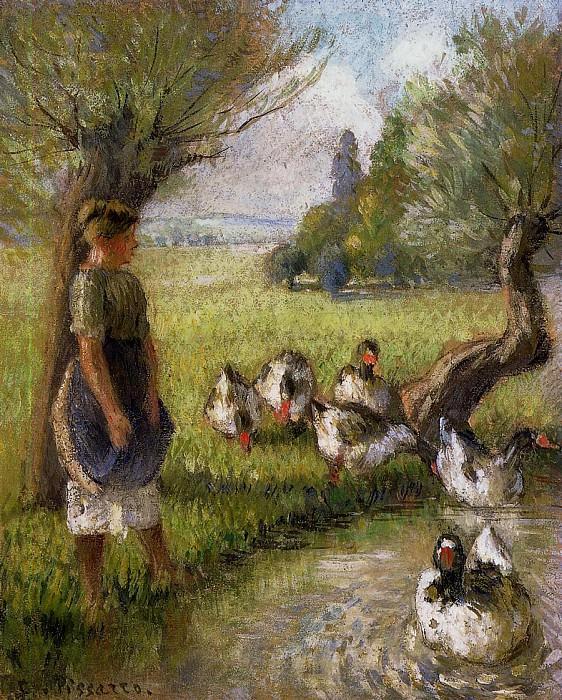 Goose Girl. (1890). Camille Pissarro