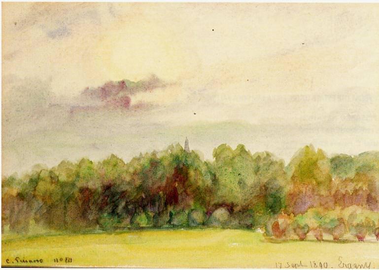 Пейзаж Эраньи (1890). Камиль Писсарро
