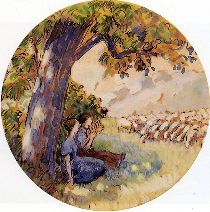 Pastoral. (1890). Camille Pissarro