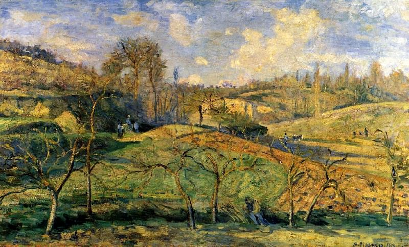 March Sun, Pontoise. (1875). Camille Pissarro