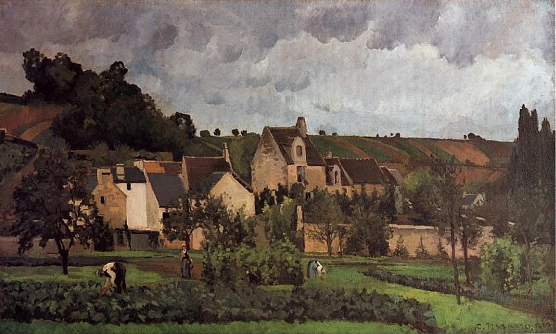 View of lHeritage at Pontoise. (1867). Camille Pissarro