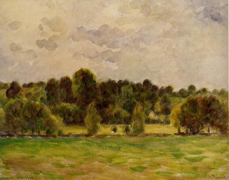 Eragny, Twilight. (1890). Camille Pissarro