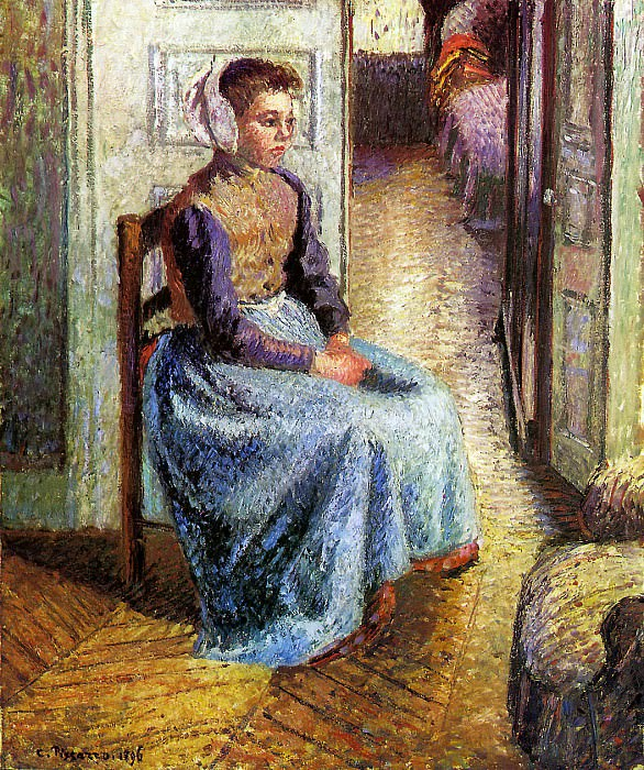Young Flemish maid. Camille Pissarro