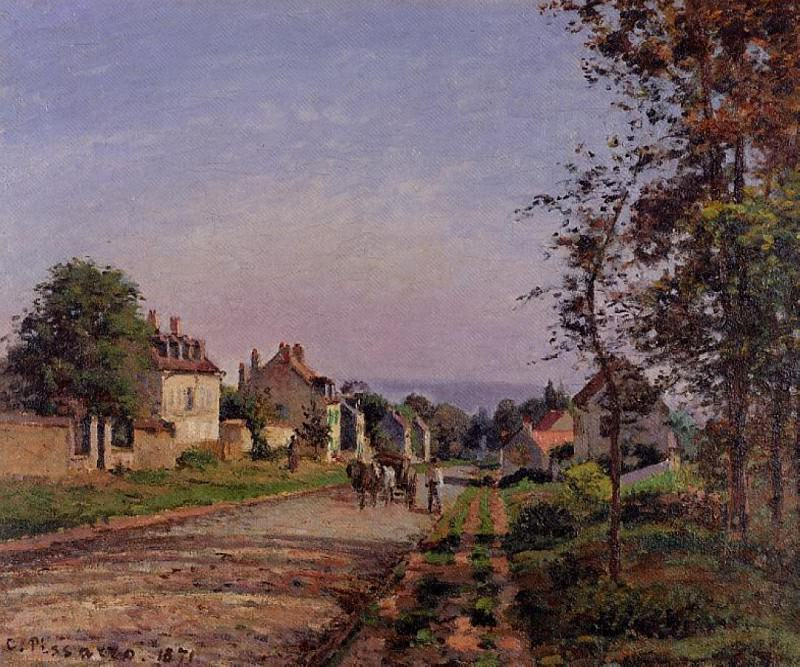 Outskirts of Louveciennes. (1871). Camille Pissarro