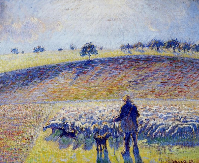 Shepherd and Sheep. (1888). Camille Pissarro