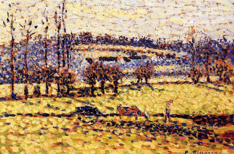 Meadow at Bazincourt. (1886). Camille Pissarro