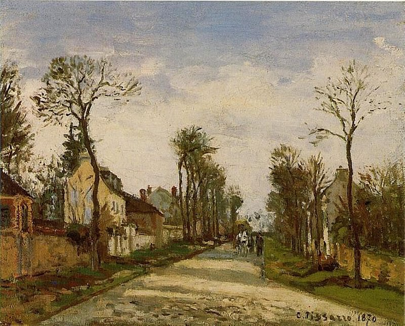The Road to Versailles at Louveciennes. (1870). Camille Pissarro