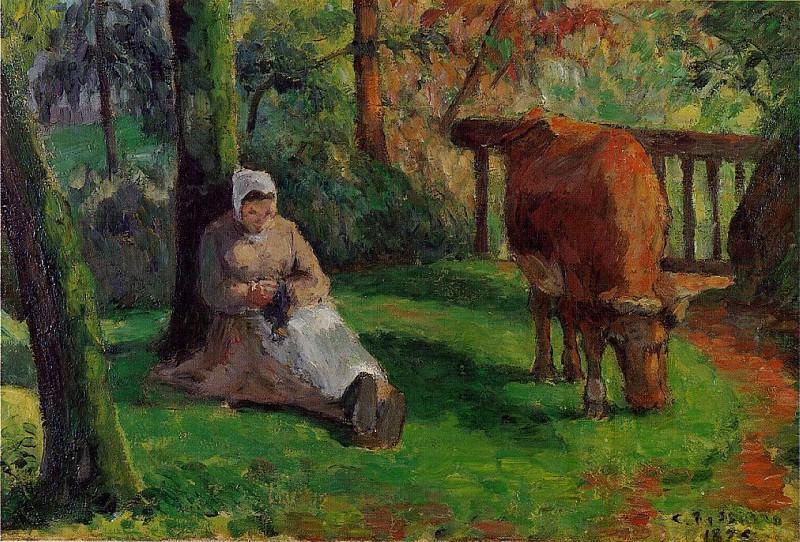 The Cowherd. (1875). Camille Pissarro