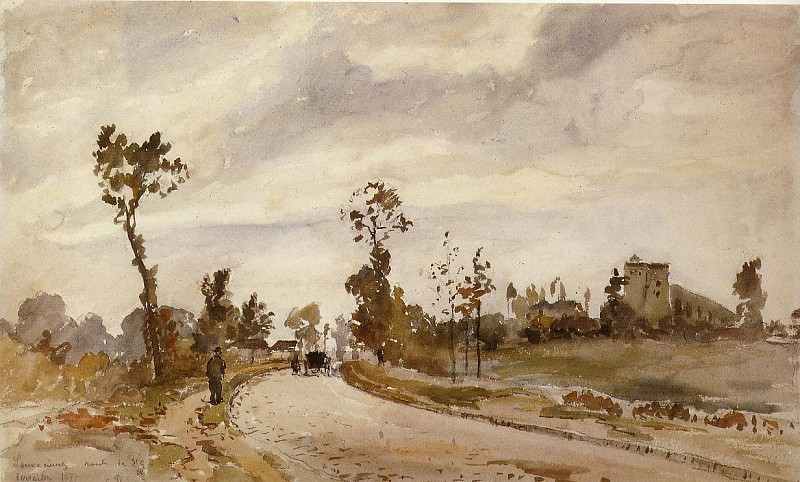 Road to Saint-Germain, Louveciennes. (1871). Camille Pissarro