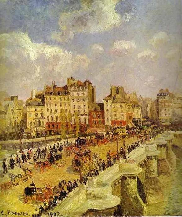 Новый мост (Пон-Нёф) (1882). Камиль Писсарро