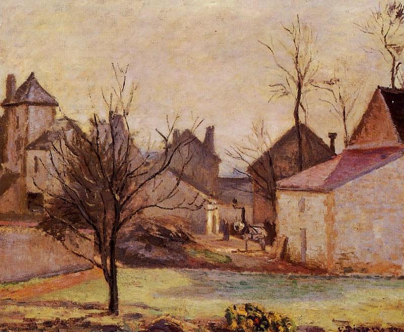 Farmyard in Pontoise. (1874). Camille Pissarro
