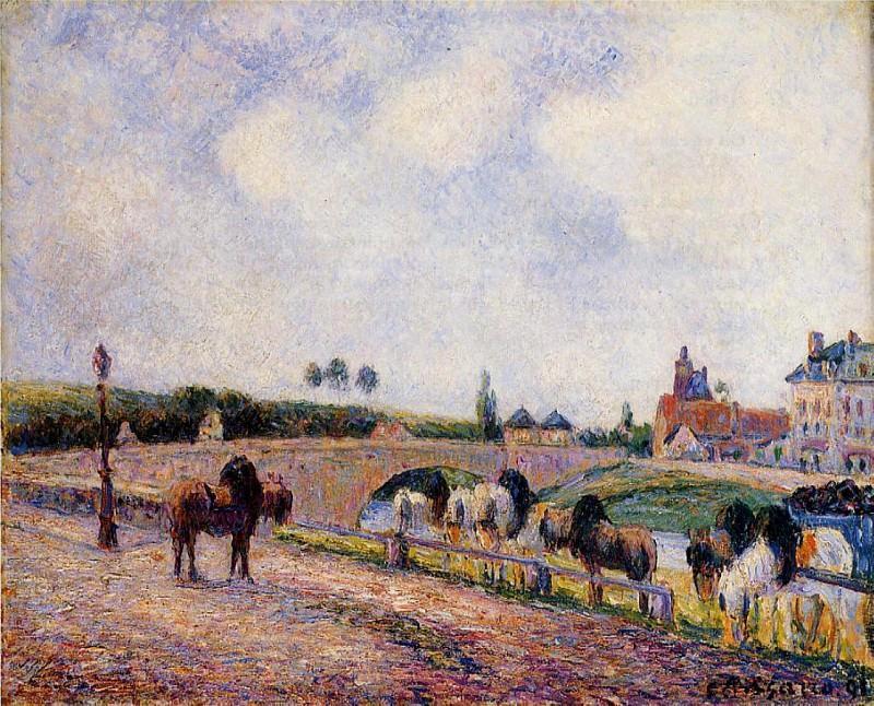 The Pontoise Bridge. (1891). Camille Pissarro