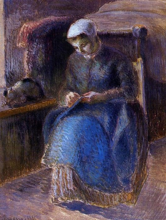 Woman Sewing. (1881). Camille Pissarro