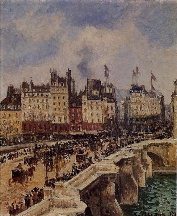 Мост Пон-Нёф (1901). Камиль Писсарро