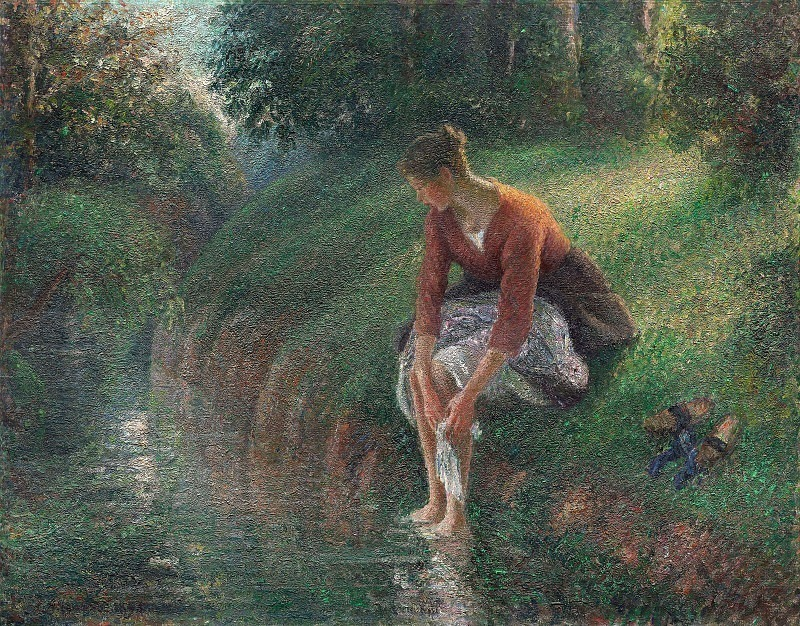 Young Woman Bathing Her Feet. (1895). Camille Pissarro