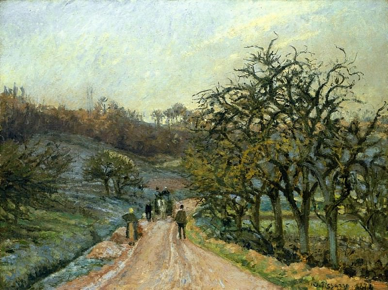 Lane of Apple Trees near Osny, Pontoise. (1874). Camille Pissarro
