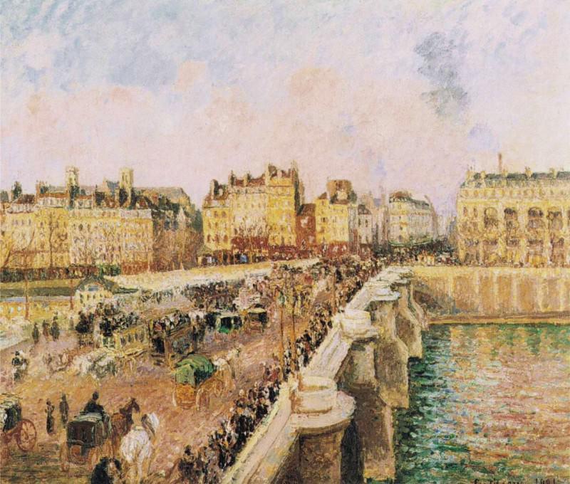 Pont Neuf, Afternoon, Sunshine. (1901). Камиль Писсарро