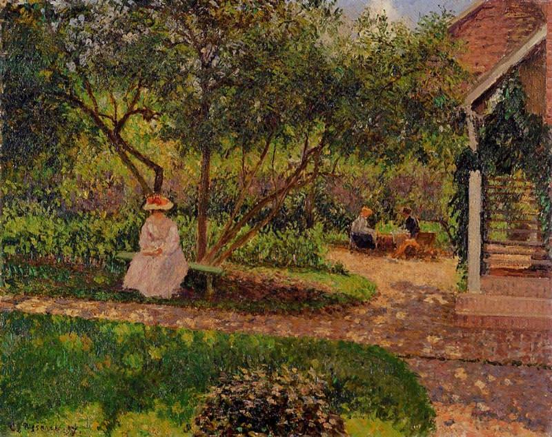 Corner of the Garden in Eragny. (1897). Camille Pissarro