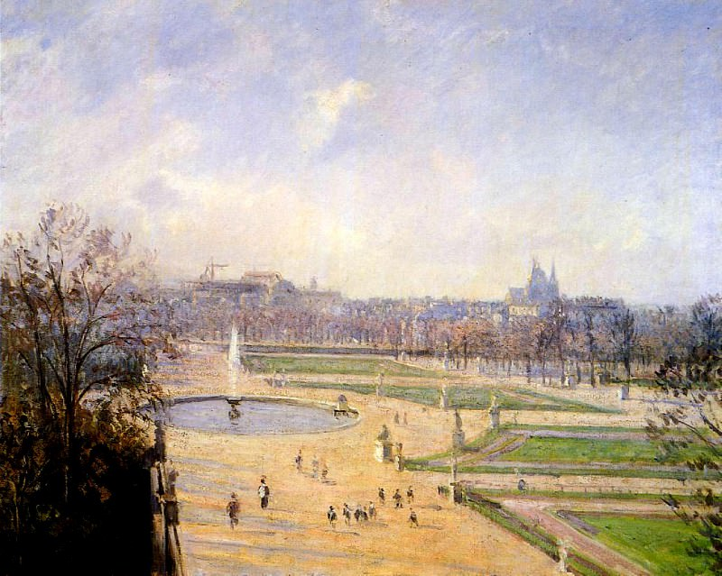 The Bassin des Tuileries - Afternoon, Sun. (1900). Camille Pissarro